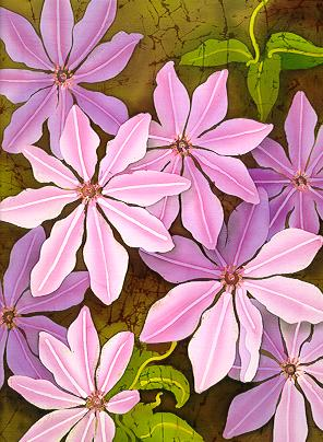 Batik Clematis Nelly Moser