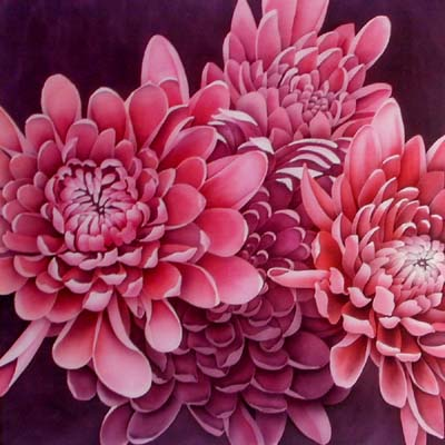 Silk Painting Chrysanthemums