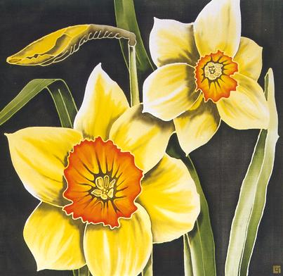 Silk Painting Narcissi