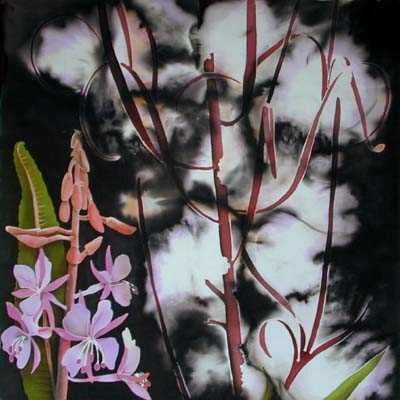 Silk Painting Fireweed