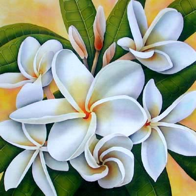 Gallery six silk painting frangipani mightylinksfo
