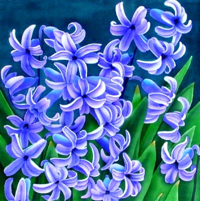Silk Painting Hyacinth