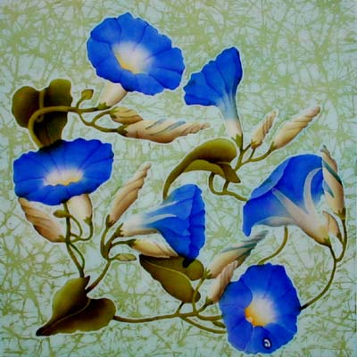 Silk Painting Morning Glory