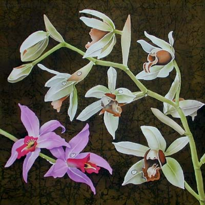 Silk Painting Orchids