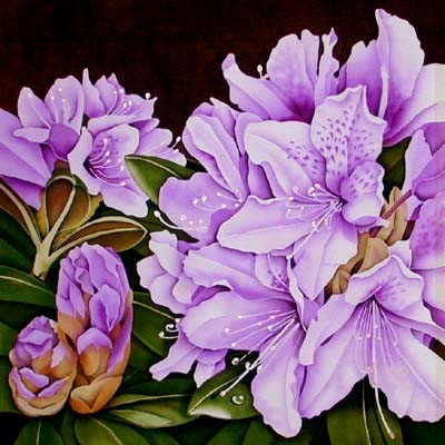 Silk Painting Rhododendron