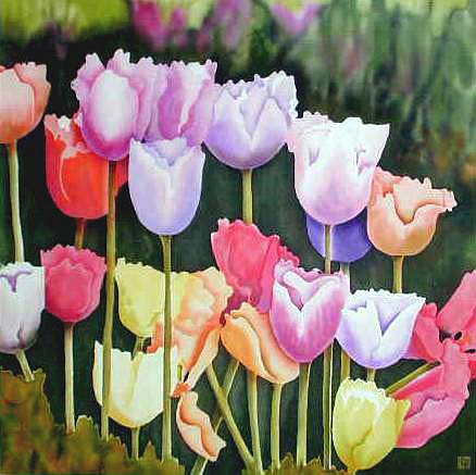 Silk Painting Festival Tulips