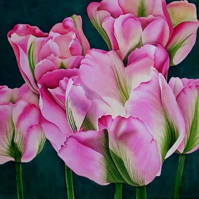 Silk silk painting tulipa groenland mightylinksfo