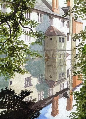 Watercolour Baddesley Clinton Warwickshire