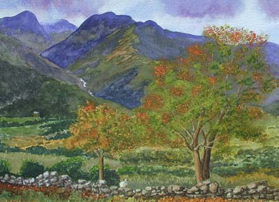 Watercolour Snowdonia North Wales
