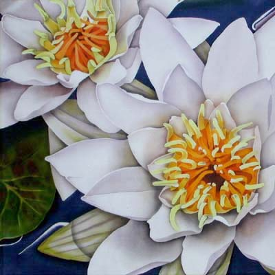 Silk Painting Water Lilies